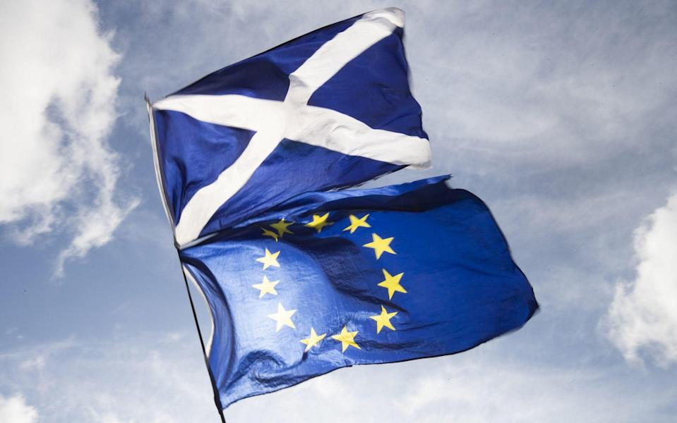 In the 2016 referendum, the Scottish public voted to remain in the EU by a margin of 62 to 38 per cent - Jane Barlow/PA