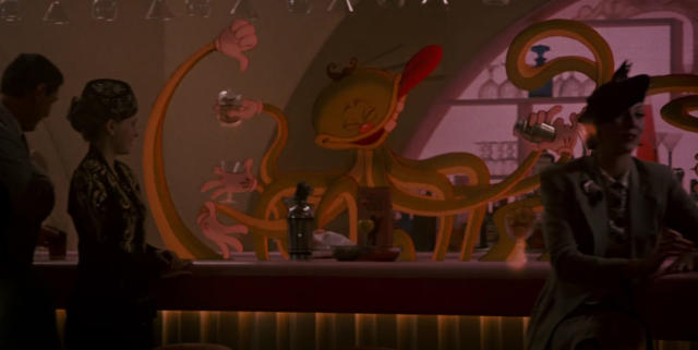 A cartoon octopus tends bar in the Ink and Paint Club in <em>Who Framed Roger Rabbit.</em>(Photo: Hulu)