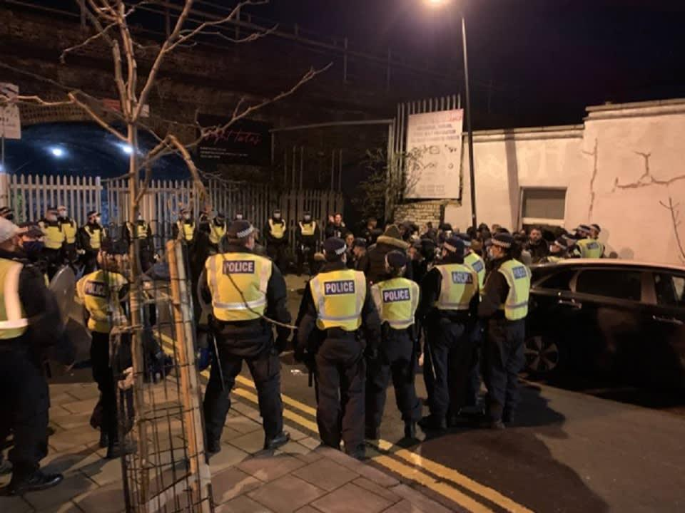 <p>The Metropolitan Police caught hundreds of people partying in a blatant breach of coronavirus rules on Saturday</p> (Metropolitan Police )