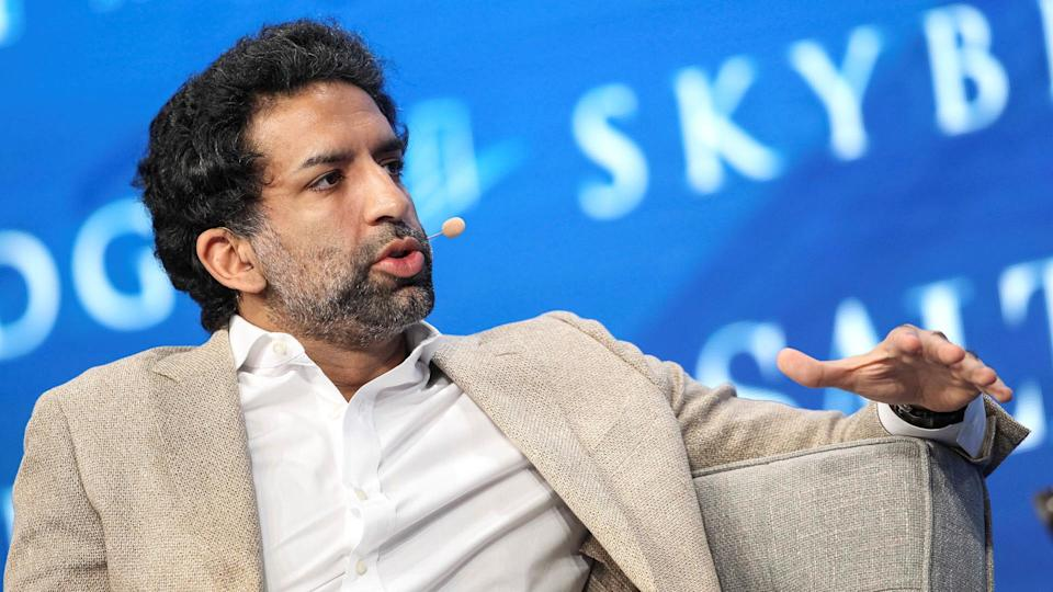 Omeed Malik speaking at the SALT conference in May 2017. <span>REUTERS/Richard Brian/File Photo</span>