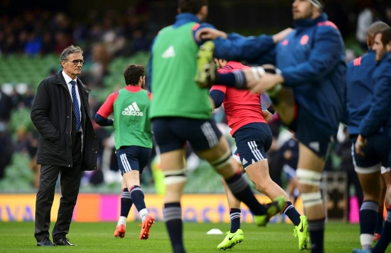 With only one Six Nations win from three games so far, the pressure is on French coach Guy Noves (L) as they face Italy