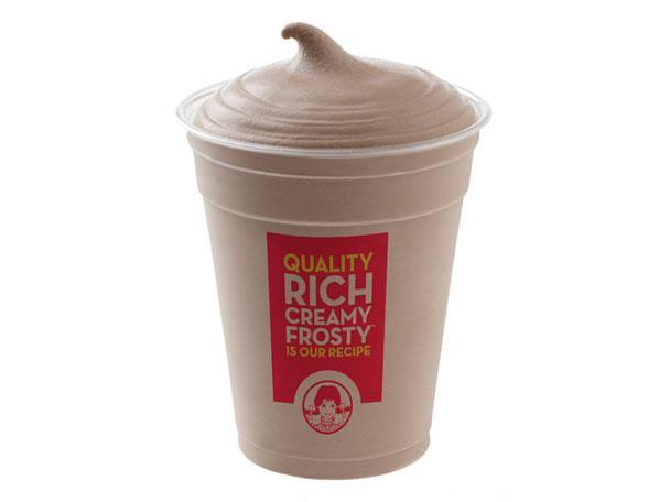 """<div class=""""caption-credit""""> Photo by: Photo: The Wendy's Company</div><b>4. Wendy's Chocolate Frosty</b> <br> The Frosty has become as synonymous with the Wendy's restaurant chain as the redheaded, pigtailed icon herself. While consumers may come for the old-fashioned hamburgers and natural-cut fries, they end up staying for the Frosty, a thick-and-creamy frozen, blended dessert made with whole milk. Founded in 1969 by the late Dave Thomas, the Wendy's chain has grown to more than 6,500 locations in 28 countries around the globe and has expanded its line of Frosty-inspired treats to include a variety of flavored shakes, fresh fruit parfaits, and floats. <br> <b>More from Gourmet:</b> <br> <b><a href=""""http://www.gourmet.com/recipes/menus/2008/08/burger-slideshow?mbid=synd_yshine"""" rel=""""nofollow noopener"""" target=""""_blank"""" data-ylk=""""slk:Gourmet's 12 Best Burgers of All Time"""" class=""""link rapid-noclick-resp"""">Gourmet's 12 Best Burgers of All Time</a> <br></b> <b><a href=""""http://www.gourmet.com/recipes/2000s/2009/03/sandwiches-of-the-world-slideshow#slide=1?mbid=synd_yshine"""" rel=""""nofollow noopener"""" target=""""_blank"""" data-ylk=""""slk:The Best Sandwiches Around the World"""" class=""""link rapid-noclick-resp"""">The Best Sandwiches Around the World</a> <br></b> <br>"""