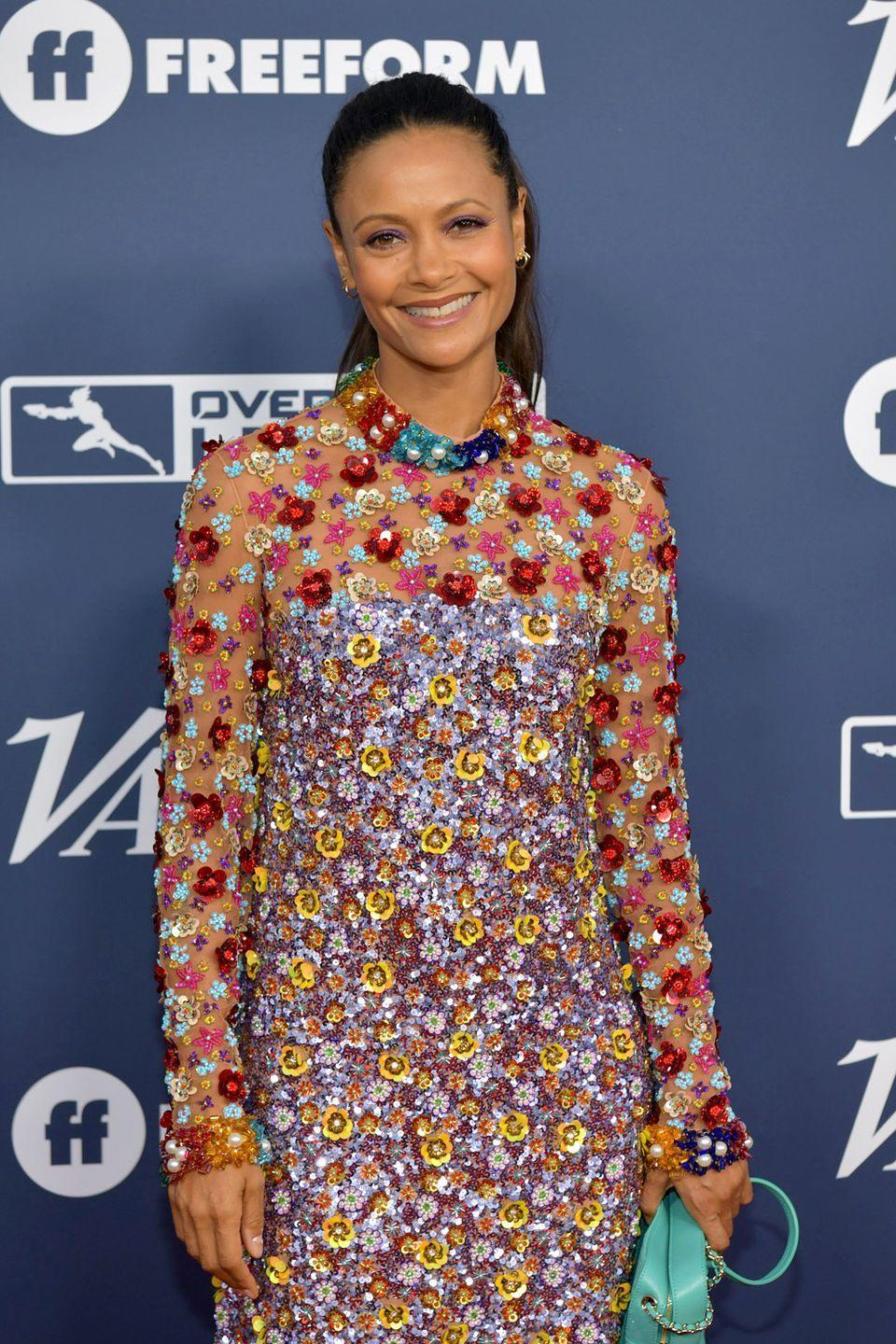 """<p>Newton credits her physique to two things: a vegetarian diet full of colorful fruits and veggies, and Jivamukti yoga. She once told<em> <a href=""""https://stylecaster.com/beauty/thandie-newton-on-olay-juicing-and-surviving-the-holidays/"""" rel=""""nofollow noopener"""" target=""""_blank"""" data-ylk=""""slk:StyleCaster"""" class=""""link rapid-noclick-resp"""">StyleCaster</a></em>, """"It's key to make sure you have a lot of color on your plate. The more colorful the food, the more beneficial it is.""""</p>"""