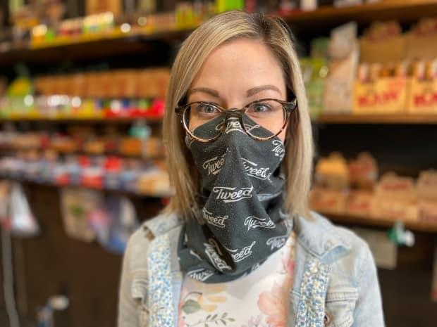 'I am turning people away that have just left the cannabisstore and bought cannabis. It's frustrating,' says Megan Patey, co-owner of Island Releaf Glass smoke shop in Summerside. (Tony Davis/CBC - image credit)