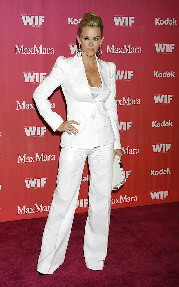 "Also in attendance at the Women in Film Awards ... former ""Singled Out"" star Jenny McCarthy, who popped a pose in this season's must-have ensemble: a crisp white suit. Jeffrey Mayer/<a href=""http://www.wireimage.com"" target=""new"">WireImage.com</a> - June 12, 2009"