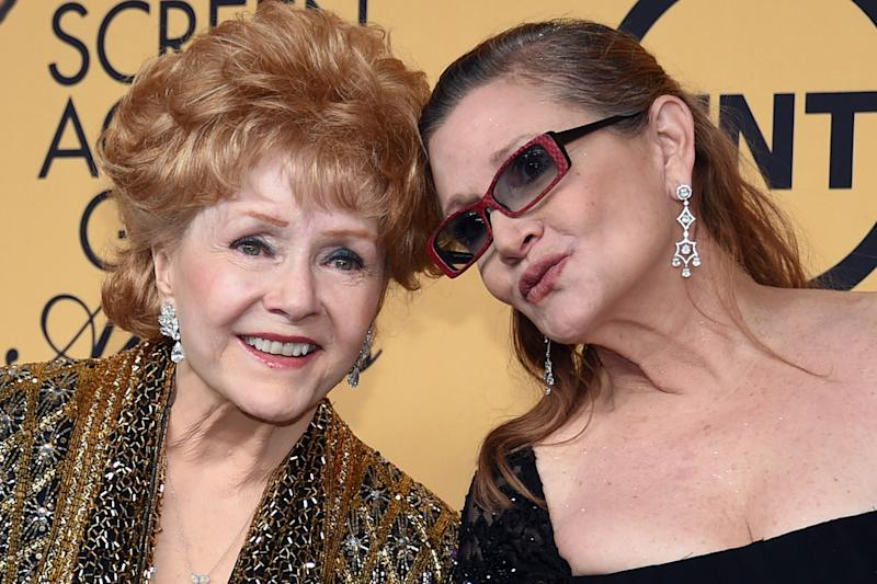 Together: Debbie Reynolds and her daughter Carrie Fisher: Ethan Miller/Getty