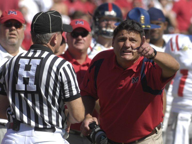 Ed Orgeron went 10-25 in his previous stint as an SEC head coach. (Getty Images)