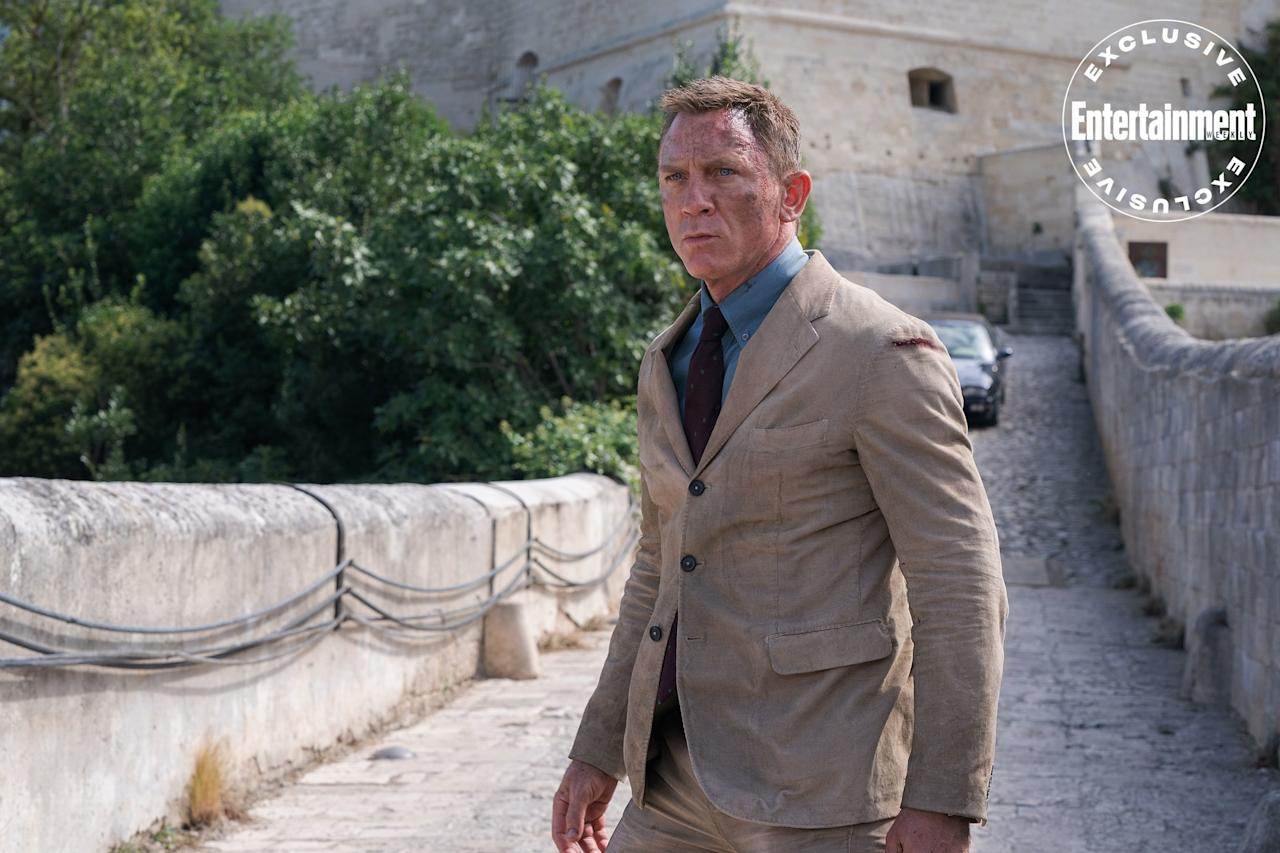 "<a href=""https://ew.com/tag/daniel-craig/"">Daniel Craig</a> once again plays James Bond in <a href=""https://ew.com/creative-work/bond-25/""><em>No Time to Die</em></a> (out April 10). ""I had to question myself,"" Craig says of portraying the British superspy for the fifth time <a href=""https://ew.com/movies/2020/01/21/daniel-craig-rami-malek-no-time-to-die-cover/"">in EW's cover story</a>. ""Was I physically capable of doing another one?"""