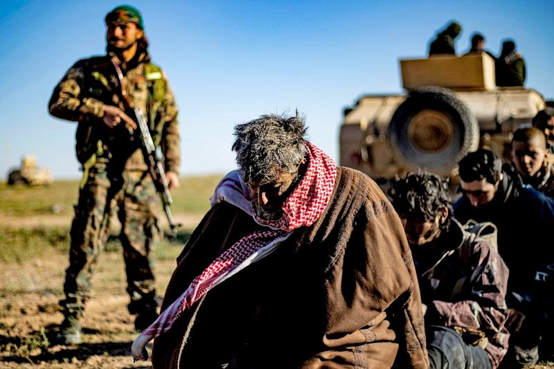 The Kurdish-led Syrian Democratic Forces are holding hundreds of alleged jihadists and relatives