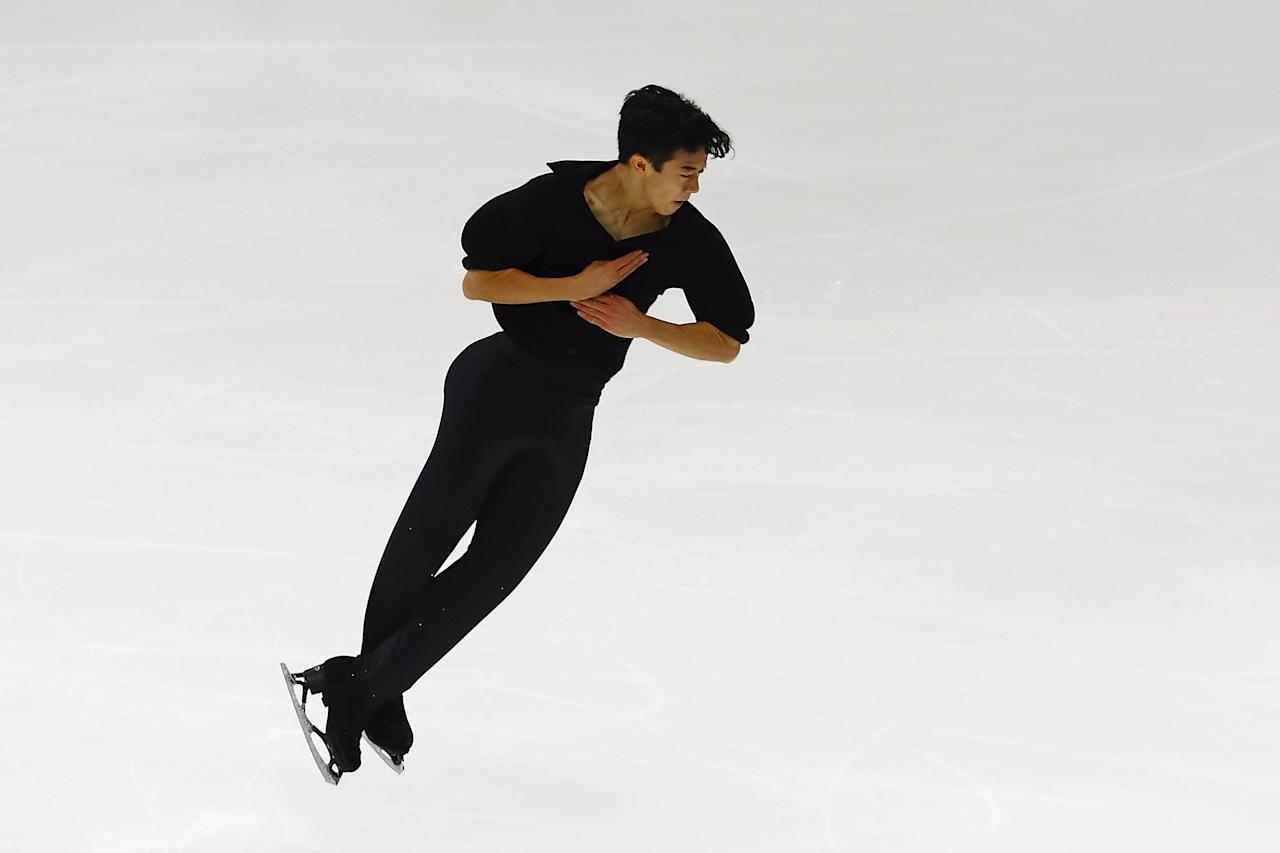 <p>American Nathan Chen became the first skater to land five different types of quad jumps (toe loop, salchow, loop, flip and lutz) at various competitions. </p>