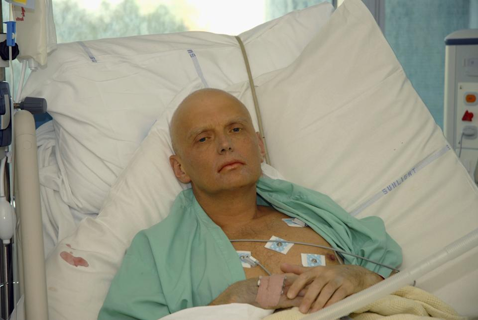 LONDON - NOVEMBER 20: In this image made available on November 25, 2006, Alexander Litvinenko is pictured at the Intensive Care Unit of University College Hospital on November 20, 2006 in London, England. The 43-year-old former KGB spy who died on Thursday 23rd November, accused Russian President Vladimir Putin in the involvement of his death. Mr Litvinenko died following the presence of the radioactive polonium-210 in his body. Russia's foreign intelligence service has denied any involvement in the case. (Photo by Natasja Weitsz/Getty Images)
