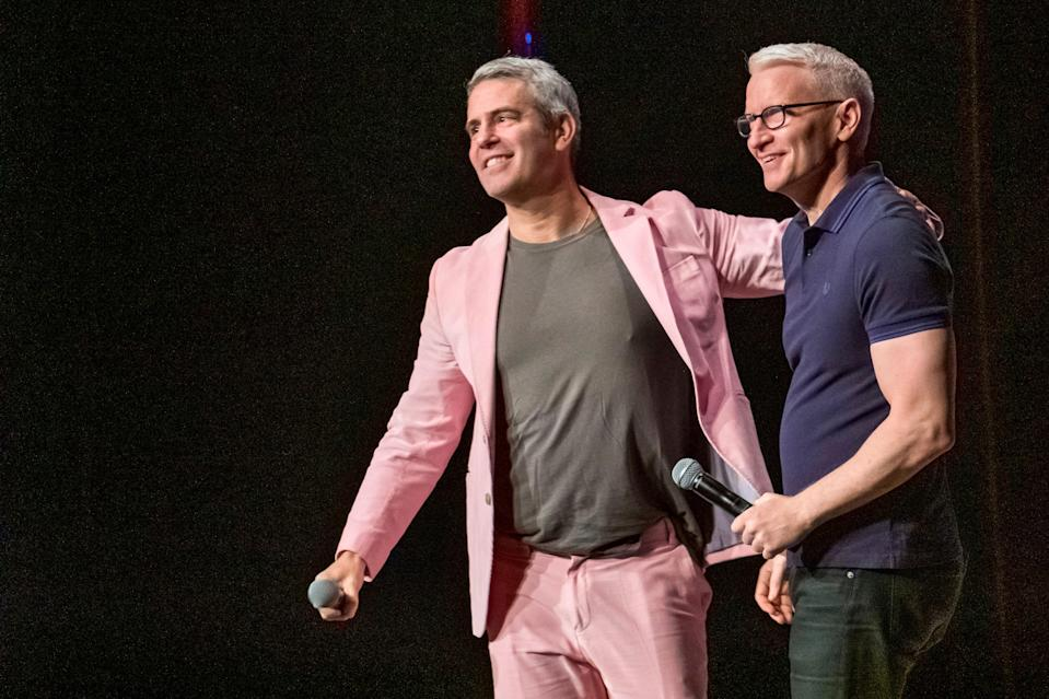 Andy Cohen, left, and Anderson Cooper return to host CNN's New Year's Eve festivities.