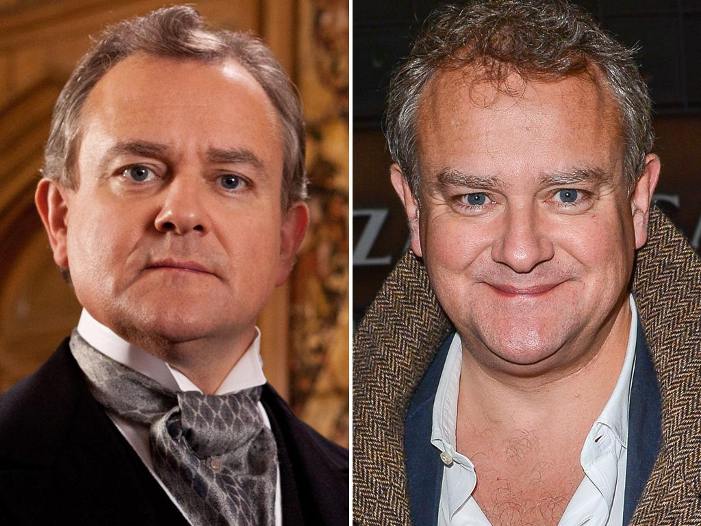 "<p><strong>Hugh Bonneville</strong> looks a lot more relaxed when he's not in character as ""Downton's"" Lord Grantham. Maybe that Edwardian ascot is tied a little too tight.</p>"
