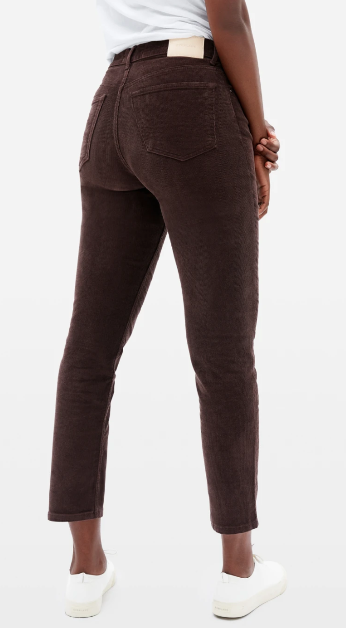 The Cheeky Straight Corduroy Pant in Bitter Chocolate