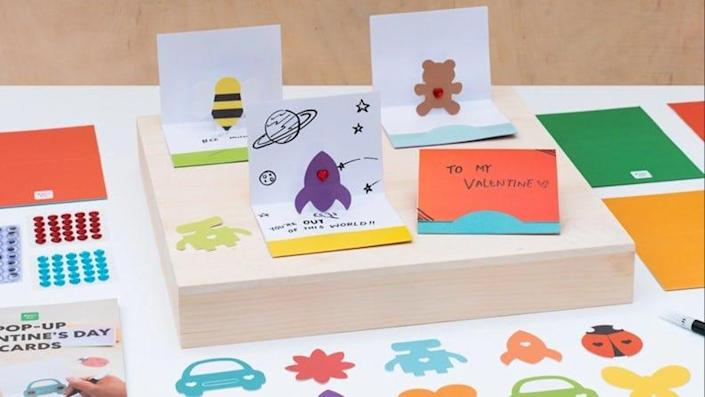 Your family can make up to 27 pop-up cards using this cute kit.