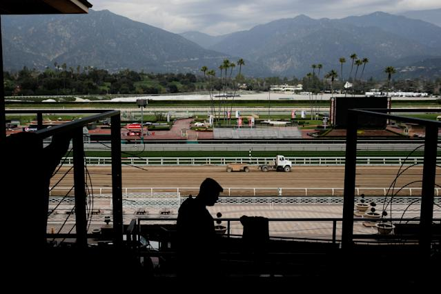 There is clearly something very wrong at the Santa Anita racetrack. (AP Photo/Jae C. Hong)