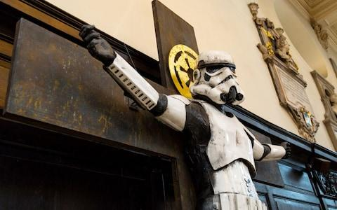 Stormtrooper on crucifix - Credit: Paul Davey/SWNS