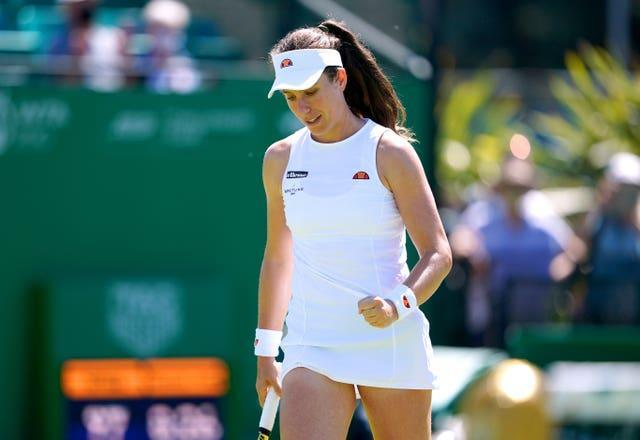 Johanna Konta has not played in front of home fans since Wimbledon 2019