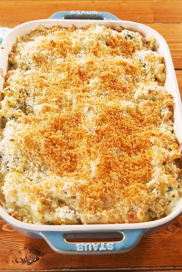 """<p>No one will be able to resist this ultra creamy mac.</p><p>Get the recipe from <a href=""""https://www.delish.com/cooking/recipe-ideas/a26593313/spinach-artichoke-mac-and-cheese-recipe/"""" rel=""""nofollow noopener"""" target=""""_blank"""" data-ylk=""""slk:Delish"""" class=""""link rapid-noclick-resp"""">Delish</a>. </p>"""