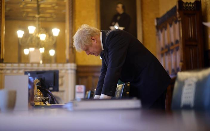 Boris Johnson Prepares for PMQs  -  Andrew Parsons/Number 10 Downing Street