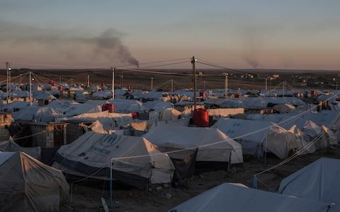 A view of Roj Camp in northern Syria near the Iraqi border, where 370 women from 46 different countries are being held due to their suspected links to Isil - Credit: Sam Tarling for The Telegraph