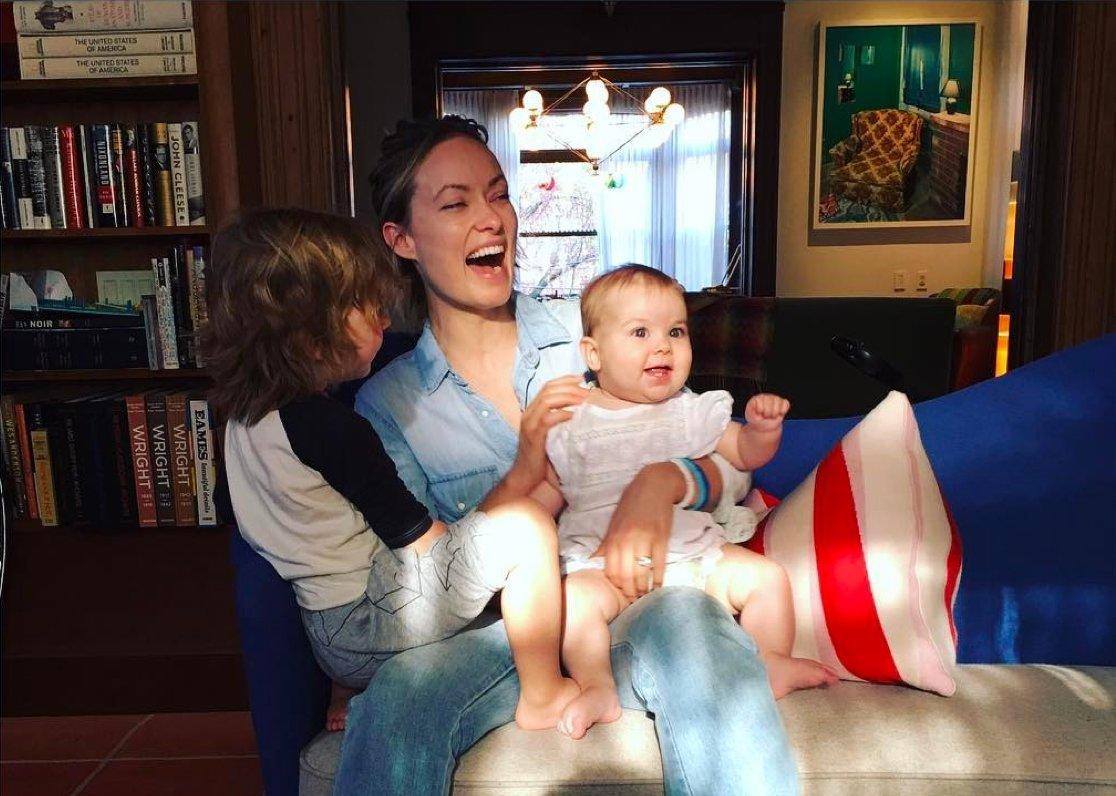 """""""Having an infant son alerts me to the fact that every man, at one point, has peed on his own face. #awesome,"""" the actress<a href=""""https://twitter.com/oliviawilde/status/459372001376108546""""> tweeted</a> about son Otis, now 5, in 2014. She and partner Jason Sudeikis are also parents to daughter Daisy, 3."""