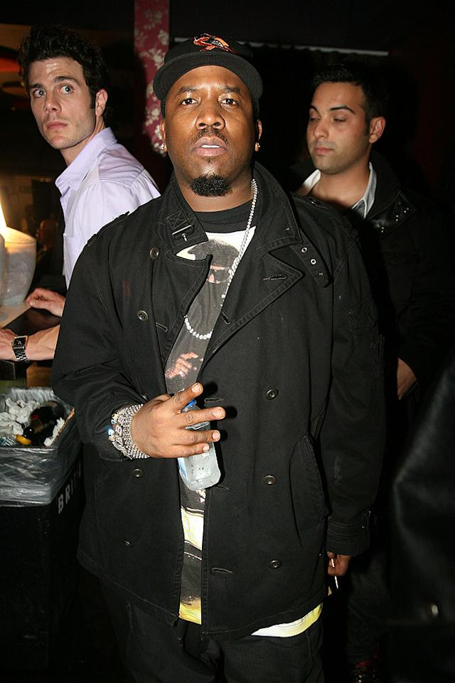 "Rapper Big Boi opted to go casual at Entertainment Weekly's post-Grammy bash. Johnny Nunez/<a href=""http://www.wireimage.com"" target=""new"">WireImage.com</a> - February 11, 2008"