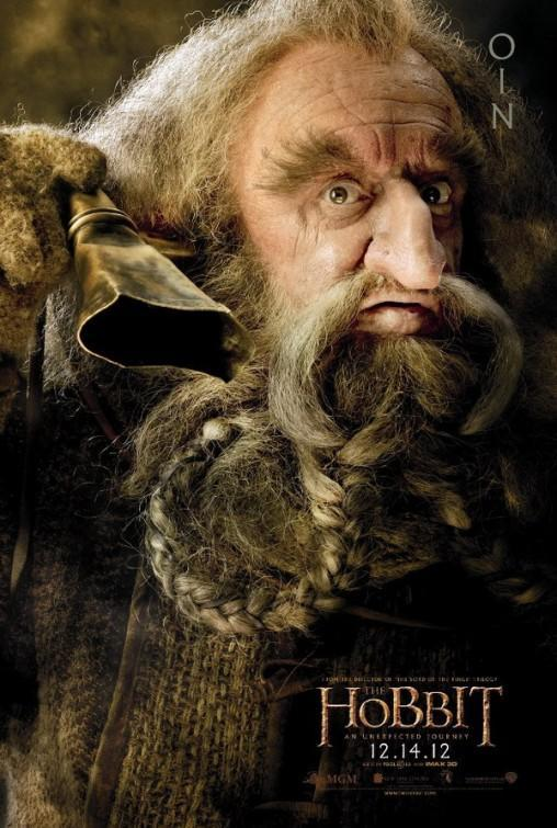 The dwarves featured heavily in the marketing for <i>The Hobbit: An Unexpected Journey</i>, with Callen's Oin even getting his own character poster. (WB)