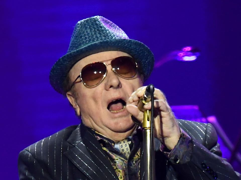 Cantankerous pop star: Van Morrison performs in March 2020, before coronavirus struck (Gareth Cattermole/Getty Images)
