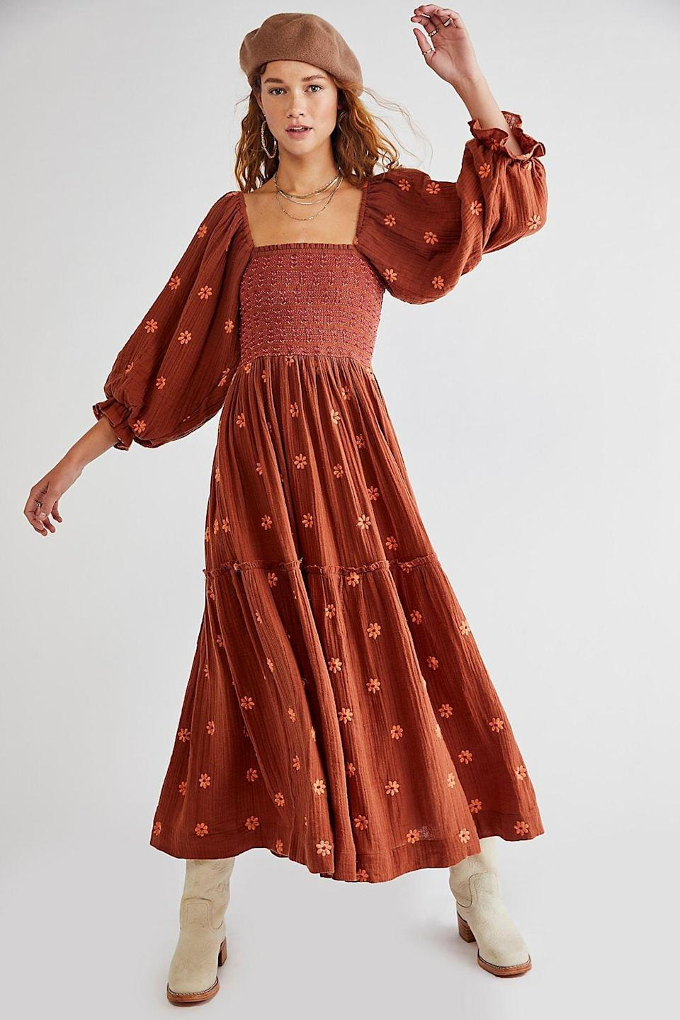 <p>This pretty <span>Free People Dahlia Embroidered Maxi Dress</span> ($168) comes in five different colors. It's a customer favorite and has great reviews.</p>