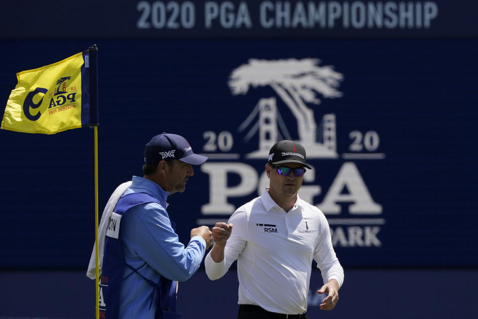 Zach Johnson will look to continue his solid play Friday at the PGA Championship. (Charlie Riedel/AP)