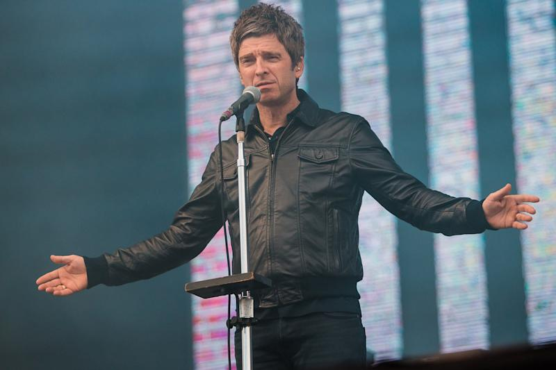 Outspoken artist: Noel Gallagher teased adoring fans at his Brighton show: Mauricio Santana/Getty