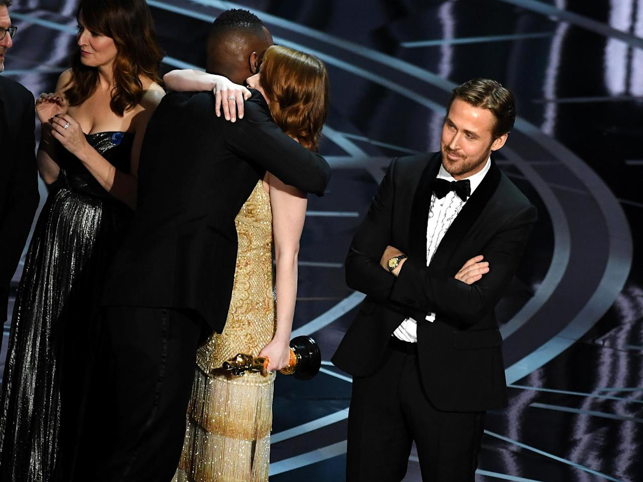 Oscars 2017: How La La Land actors reacted as they realised Best Picture mistake live on stage