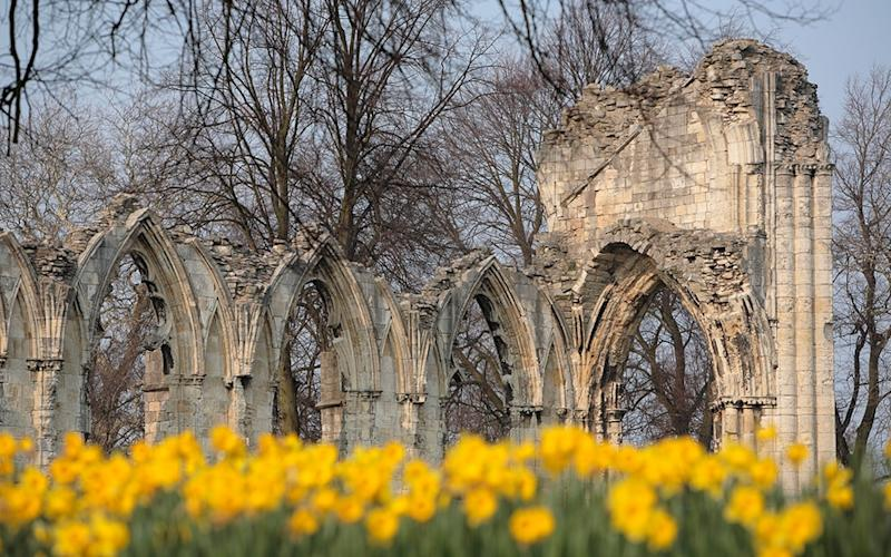 The ruins of the Benedictine St Mary's Abbey is among the fascinating historic attractions throughout York - This content is subject to copyright.