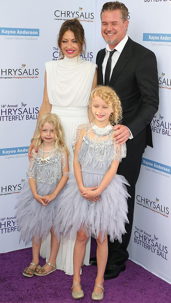 BRENTWOOD, CA - JUNE 03: Eric Dane, Billie Beatrice Dane, Rebecca Gayheart-Dane and Georgia Dane attend the 16th Annual Chrysalis Butterfly Ball on June 03, 2017 in Brentwood, California. (Photo: JB Lacroix/WireImage)