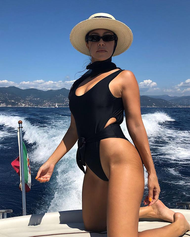 "Fans are used to seeing the eldest Kardashian sister and mother of three posing for a sexy swimsuit shot, but visible stretch marks were new to them — and they were effusive in their praise of the unretouched photos. Kourtney <a href=""https://people.com/style/kourtney-kardashian-shows-stretch-marks-unretouched-swimsuit-photo-instagram/"">responded in the comments</a>, saying, ""I love my little stripes."""