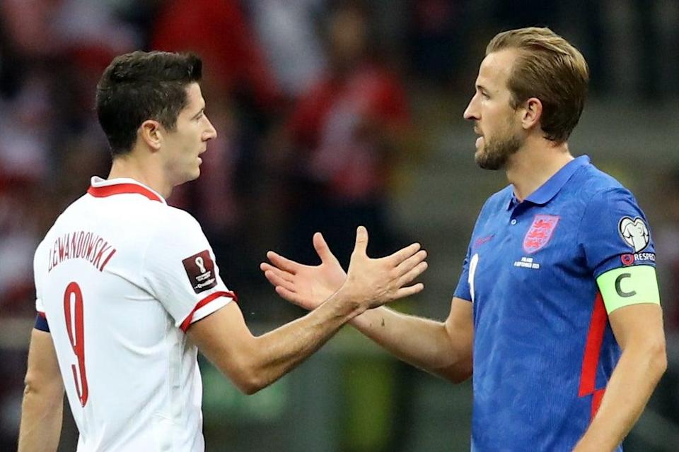 Robert Lewandowski and Harry Kane went head to head as Poland hosted England in Warsaw  (REUTERS)