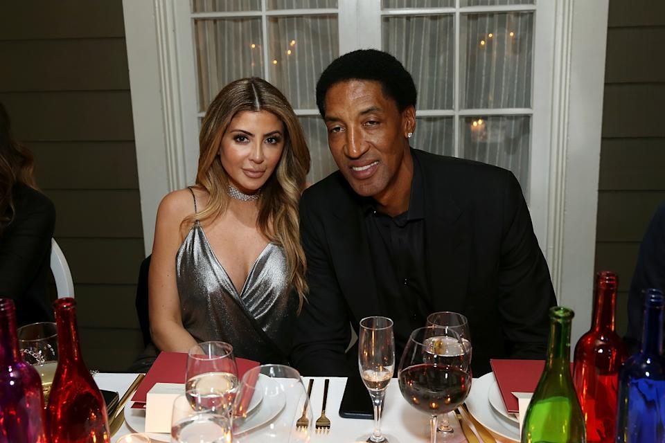 Larsa Pippen and Scottie Pippen attend the Haute Living NBA All Star Dinner Honoring Scottie Pippen on February 15, 2018 in Bel Air, California.
