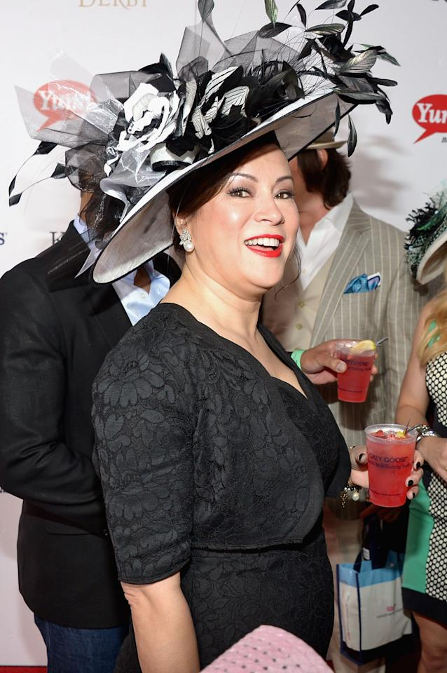 LOUISVILLE, KY - MAY 04:  Jennifer Tilly at the GREY GOOSE Red Carpet Lounge at the Kentucky Derby at Churchill Downs on May 4, 2013 in Louisville, Kentucky.  (Photo by Theo Wargo/Getty Images for GREY GOOSE)