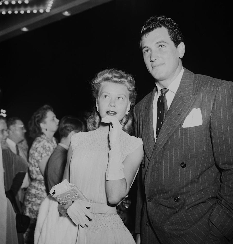 <p>After serving in the Air Force during the war, Rock Hudson was approached to try his hand in Hollywood. Hudson started out in a few minor roles in 1948 and slowly his star became to climb. In 1956, he received an Oscar nomination for his role in <em>Giant. </em></p>