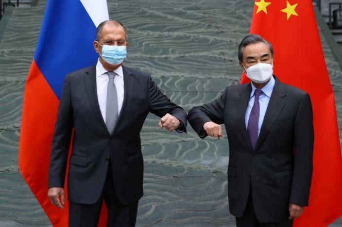 Russia's Foreign Minister Sergei Lavrov meets with China's State Councilor Wang Yi in Guilin