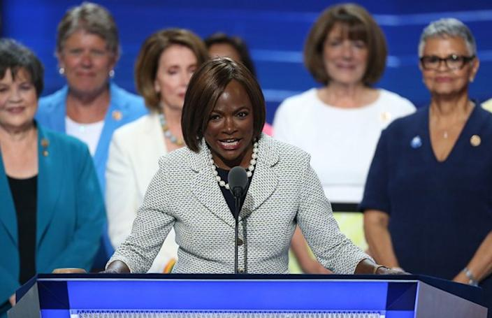 Val Demings speaks during the Democratic National Convention. (Photo: Daniel Acker/Bloomberg via Getty Images)