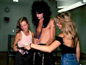 <p>Lee backstage in Los Angeles in 1985. His hair largely went unchanged throughout the '80s.</p>