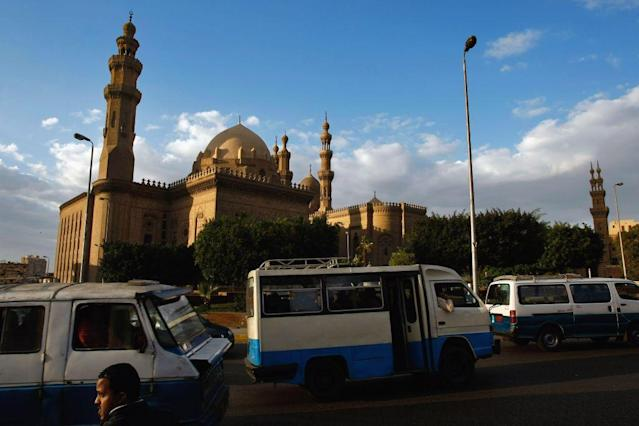 <b>CAIRO, EGYPT: </b>The Mamluk 14th century madrasa and mausoleum of Sultan Hassan and other later Ottoman mosques dominate the Salah ad-Din Square, a central roundabout below the Citadel in Cairo, Egypt. Despite being known primarily for its Pharaonic monuments, some almost 5,000 years old, the country has a rich Islamic heritage. The various Muslim dynasties, which ruled the country since its capture from the Byzantines by the Muslim Arabs in 639 AD until the demise of the Ottoman Turks at the end of the First World War, have left the country with hundreds of splendid buildings erected by the ruling elite of more than 1,200 years.
