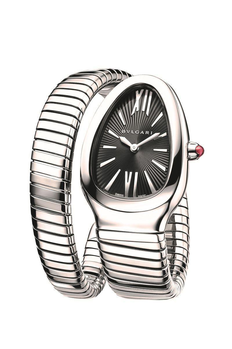 """<p>Bulgari introduced its signature Serpenti watch in a late 1904s jewelry collection, complete with the now ubiquitous <em>tubogas</em>, the hand-coiled bracelet. The name technically refers to the metal bands that wrap around the coil which was inspired by Italian piping, but also happens to resemble the body of a snake. This technique is a staple of Bulgari design and has been incorporated in countless collections for watches and jewelry since its debut. The style was popularized by Elizabeth Taylor who wore her Serpenti bracelet watch on the set of <em>Cleopatra.</em> For those looking for a timepiece that has a strong jewelry influence and historic style, a Bulgari Serpenti is an iconic choice.</p><p><a href=""""https://www.bulgari.com/en-us/102824.html"""" rel=""""nofollow noopener"""" target=""""_blank"""" data-ylk=""""slk:Serpenti Tubogas Watch"""" class=""""link rapid-noclick-resp"""">Serpenti Tubogas Watch</a>, $5,400.</p>"""