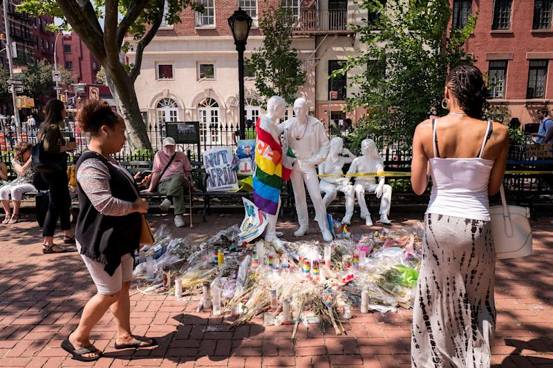 In 2016, former President Barack Obama designed the Stonewall Inn and its environs as the country's first national monument to LGBTQ rights.  (Drew Angerer via Getty Images)