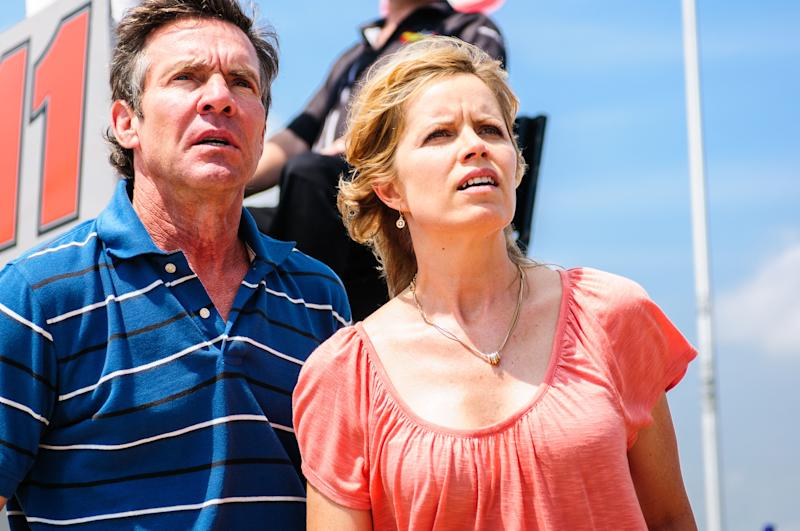 "This film publicity image released by Sony Pictures Classics shows, Dennis Quaid, left, and Kim Dickens in a scene from ""At Any Price."" (AP Photo/Sony Pictures Classics, Hooman Bahrani)"