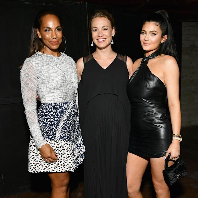 Amanda Brugel, Yvonne Strahovski, and Kylie Jenner at  <i>The Handmaid's Tale</i> Hulu finale on July 9 in L.A. (Photo: Emma McIntyre/Getty Images for Hulu)
