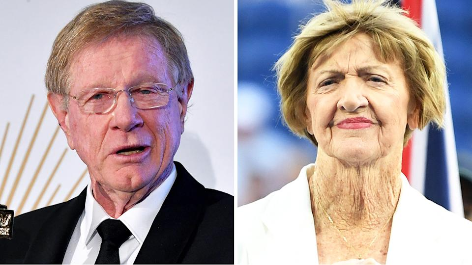 Kerry O'Brien has declined his Order of Australia honour in protest over Margaret Court's promotion in the ranks. Pictures: AAP/Getty Images