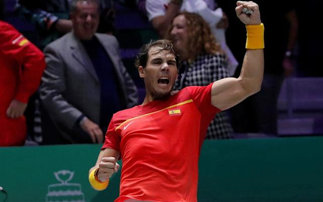 Rafael Nadal inspired Spain to victory over Great Britain in Madrid - REUTERS
